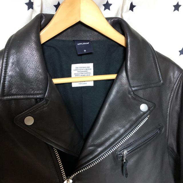 APPLEBUM(アップルバム)のAPPLEBUM サンプリングスポーツ レザージャケット アップルバム(M)☺ メンズのジャケット/アウター(レザージャケット)の商品写真