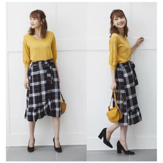トッコ(tocco)の新品 トッコ チェック スカート 売り切れ商品(ひざ丈スカート)