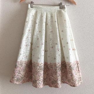axes femme - 花柄レースプリントスカート