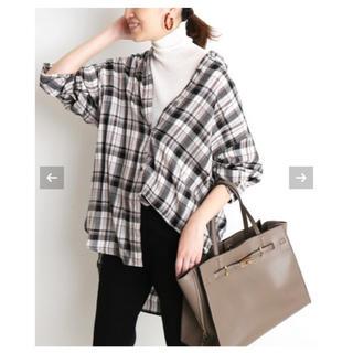 IENA SLOBE -  SLOBE IENA ウォッシャブル キュプラチェックシャツ