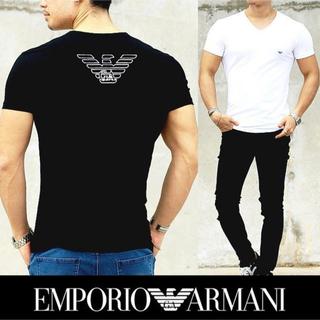 Emporio Armani - エンポリオ アルマーニ マーク Tシャツ ブラックorホワイト Lサイズ