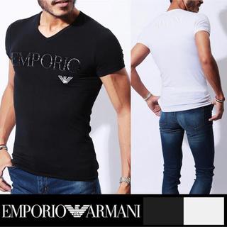 Emporio Armani - エンポリオ アルマーニ ロゴ Tシャツ ブラックorホワイト Lサイズ