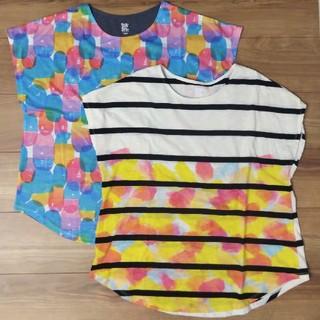 グラニフ(Design Tshirts Store graniph)の新品&美品 graniph半袖チュニック 2枚組(チュニック)