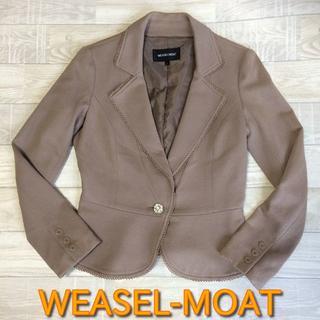 【WEASEL-MOAT】美品 テーラードジャケット ブラウン Lサイズ(テーラードジャケット)