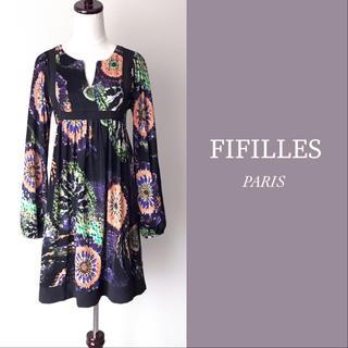 アーモワールカプリス(armoire caprice)の美品 FIFILLES フィフィーユ ワンピース チュニック(ひざ丈ワンピース)