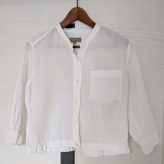 マーガレットハウエル(MARGARET HOWELL)のMARGARET HOWELL リネンカラーレスシャツ(シャツ/ブラウス(長袖/七分))