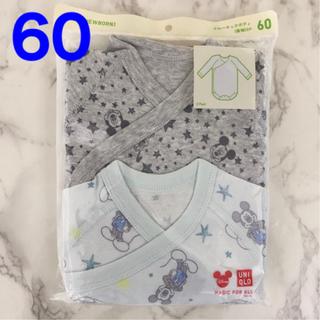 UNIQLO - 【新品】ディズニー コレクションクルーネックボディ長袖 60サイズ