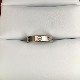 Cartier - カルティエ LOVE ウェディング ミニラブ リング K18WG 3.9g