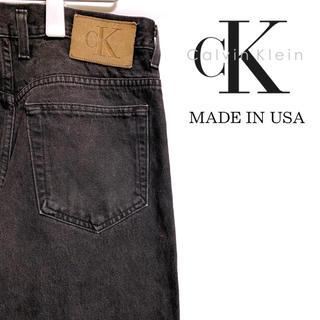 カルバンクライン(Calvin Klein)の〔アメリカ製〕90s CK カルバンクライン ジーンズ ブラックデニム ダメージ(デニム/ジーンズ)