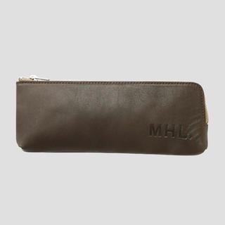 MHL. BASIC BASIC LEATHER カーキ