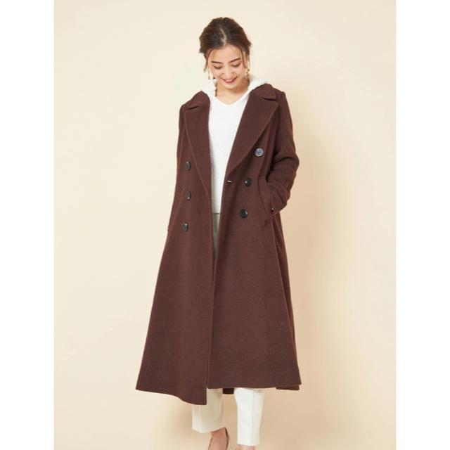 COCO DEAL(ココディール)のCOCO DEAL バックフレアロングコート レディースのジャケット/アウター(ロングコート)の商品写真