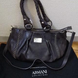 アルマーニ コレツィオーニ(ARMANI COLLEZIONI)のアルマーニ バッグ レディース ブラウン チェーン(ハンドバッグ)