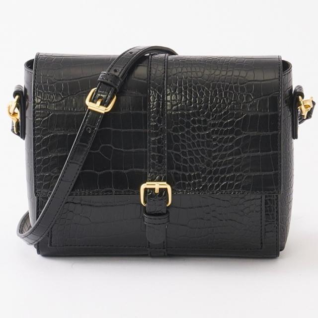 しまむら(シマムラ)のプチプラのあや★クロコ柄前ベルトショルダーバッグ レディースのバッグ(ショルダーバッグ)の商品写真