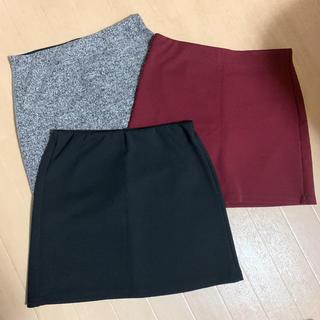 Bershka - ベルシュカ  ミニスカート  3枚セット