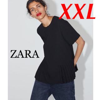 ZARA - 新品 完売品 ZARA XXL プリディテール入り 半袖トップス