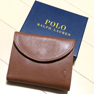POLO RALPH LAUREN - 新品 ポロ ラルフローレン ペブルレザー 三つ折りウォレット 財布 箱なし