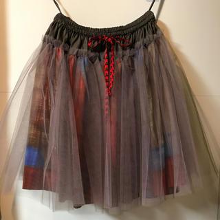 ヴィヴィアンウエストウッド(Vivienne Westwood)のヴィヴィアン ユニオンジャック チュールスカート(ひざ丈スカート)