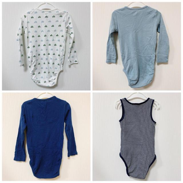 H&M(エイチアンドエム)のロンパース*90cm*4枚セット*H&M キッズ/ベビー/マタニティのベビー服(~85cm)(ロンパース)の商品写真