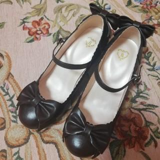 ベイビーザスターズシャインブライト(BABY,THE STARS SHINE BRIGHT)のベイビーザスターズシャインブライト リボンパンプス 茶 ブラウン 靴(ハイヒール/パンプス)