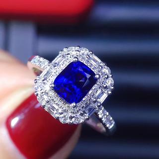 (天使の指輪)天然 非加熱ロイヤルブルー サファイア ダイヤモンド リング(リング(指輪))