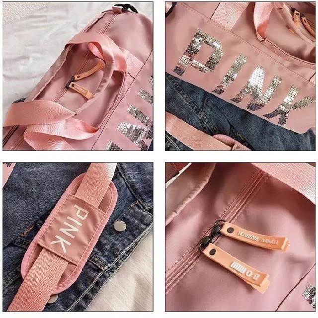 Victoria's Secret(ヴィクトリアズシークレット)のジム・ヨガ・ゴルフに!ボストンバッグ✨グレー レディースのバッグ(ボストンバッグ)の商品写真