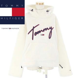 TOMMY HILFIGER - 【美品】TOMMY HILFIGERトミーヒルフィガー ボアパーカー  ロゴ刺繍