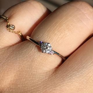 pt900  ダイヤモンド0.221ピンクダイヤモンド0.03ct リング(リング(指輪))