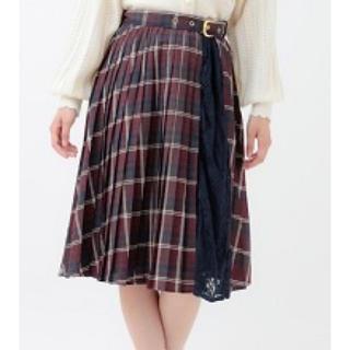 LIZ LISA - 配色チェックプリーツスカート ネイビー