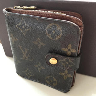 LOUIS VUITTON - 正規品ルイヴィトンコンパクトジップ折財布