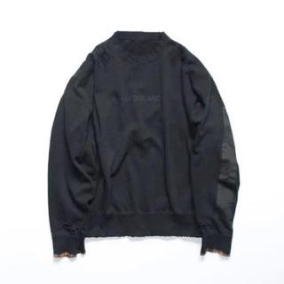 SUNSEA - stein oversized rebuild sweat ls black