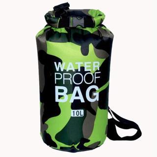 防水ショルダーバッグ 緑×迷彩 10L