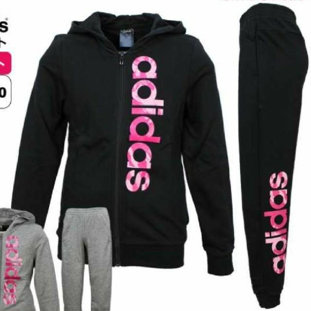 adidas(アディダス)のアディダス スウェット上下 160 キッズ/ベビー/マタニティのキッズ服女の子用(90cm~)(その他)の商品写真
