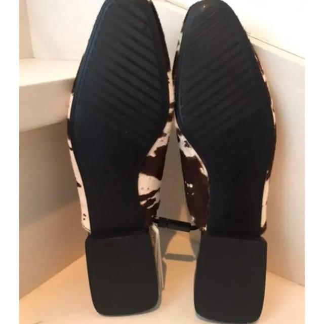 ZARA(ザラ)の【ZARA♡本革ハラコのスリッパサンダル】新品 レディースの靴/シューズ(サンダル)の商品写真