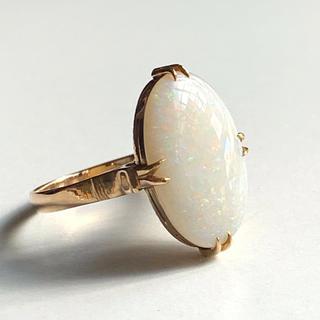 k18  ホワイトオパールの指輪(リング(指輪))