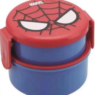フォーク付き  丸型2段ランチボックス  スパイダーマン(その他)