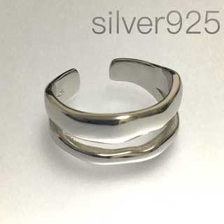 スターリングシルバー Silver925 オープンリング 銀 メンズ 指輪(リング(指輪))