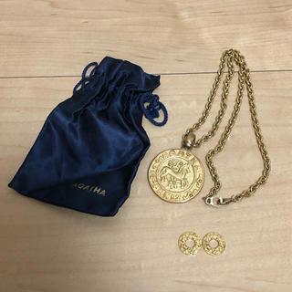 アガタ(AGATHA)のAGATHA アガタ ゴールドネックレス コイン(ネックレス)