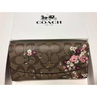COACH - 新品未使用品★コーチ シグネチャー 花柄二つ折り長財布 F29395