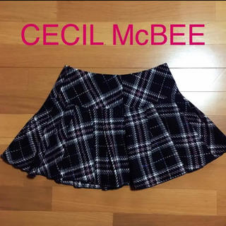 CECIL McBEE - CECILMcBEE ツイードミニスカート