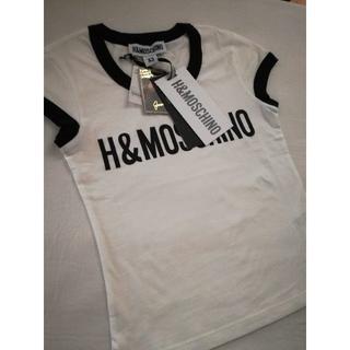 モスキーノ(MOSCHINO)のH&M MOSCINO コラボ ロゴプリント T シャツ *限定完売品(Tシャツ(半袖/袖なし))