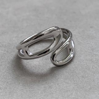 シルバー925 安全ピンデザインリング silver925(リング(指輪))