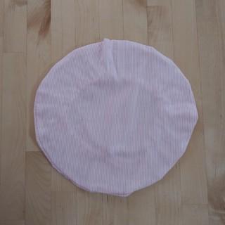 給食丸帽子★ピンクストライプ(外出用品)