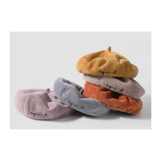 アニエスベー(agnes b.)のコーデュロイベレー帽 アニエスベー風 パロディ(帽子)
