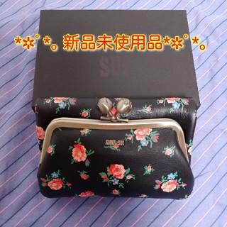 アナスイ(ANNA SUI)のアナスイ リトルローズ がま口二つ折り財布 黒 新品(財布)