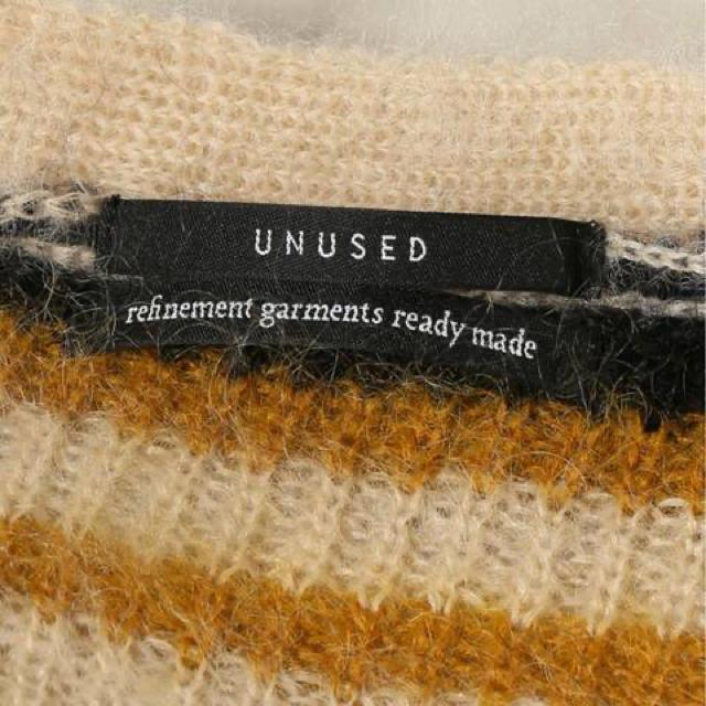 UNUSED(アンユーズド)のunused 19aw ボーダーカーディガン モヘア モヘヤ 2 メンズのトップス(カーディガン)の商品写真