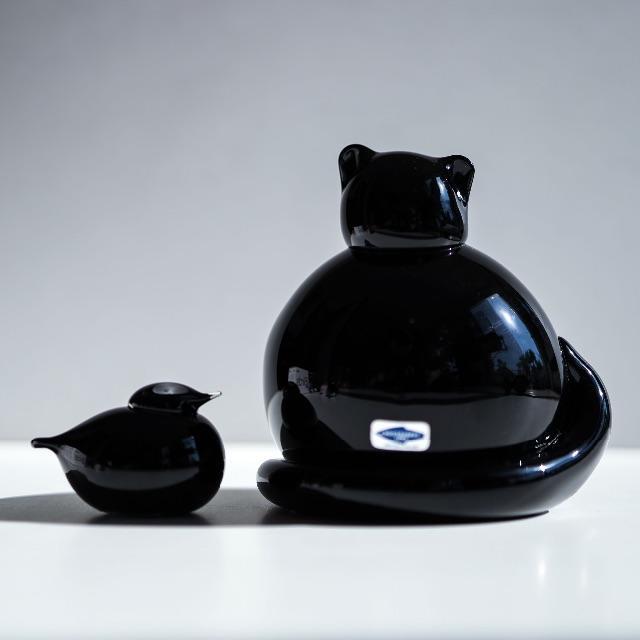 iittala(イッタラ)のInkeri Toikka ガラスの黒猫 Kissa オイバトイッカ インテリア/住まい/日用品のインテリア小物(置物)の商品写真