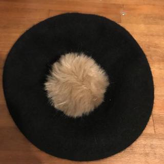 アースミュージックアンドエコロジー(earth music & ecology)のポンポン付きベレー帽(ハンチング/ベレー帽)