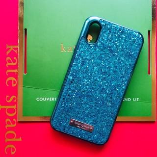 kate spade new york - iPhoneXR ブルー ケイトスペード 箱無し グリッター