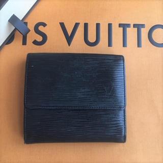LOUIS VUITTON - 美品】【正規品】ルイヴィトン LOUIS VUITTON Wホック財布 ノワール