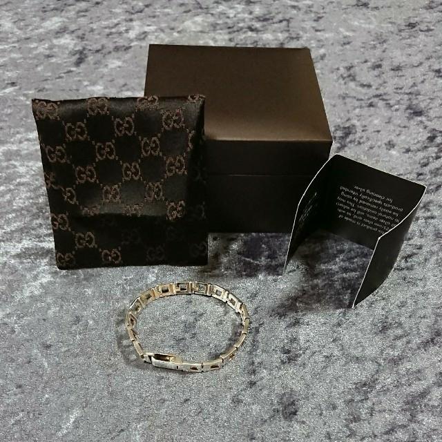 Gucci(グッチ)のGUCCIグッチ Gロゴブレスレット シルバー925 メンズレディース  メンズのアクセサリー(ブレスレット)の商品写真